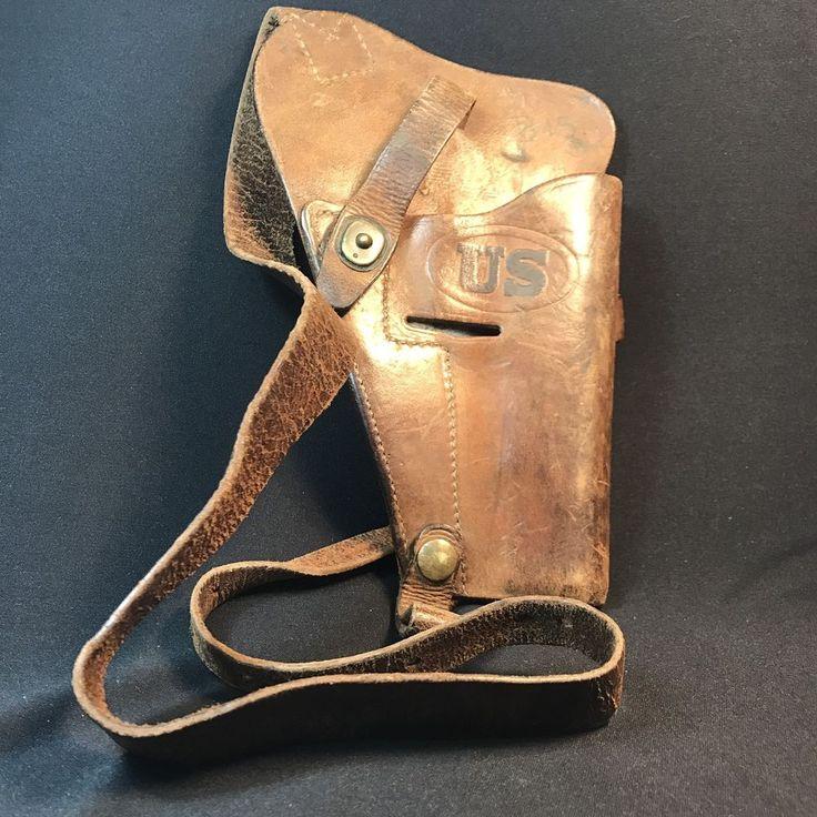 WWII US M3 Leather Shoulder Holster , marked Enger-Kress , Colt M1911 Pistol    eBay