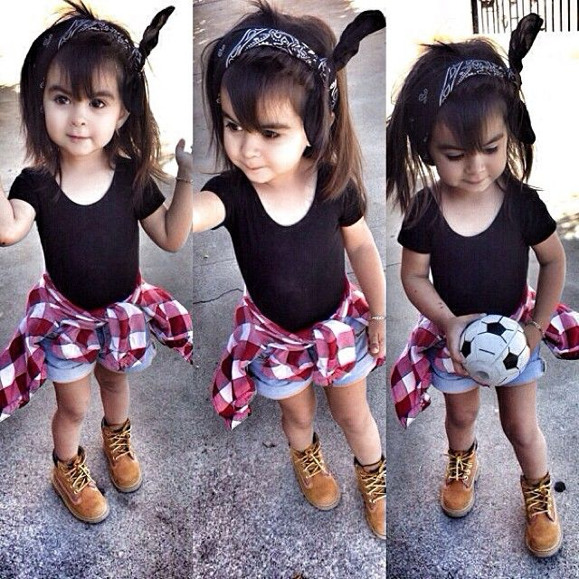 Ahhh look at her baby timberlands  so cute
