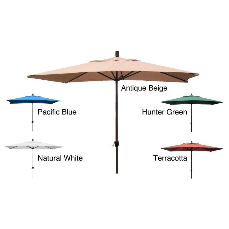 Durable construction and breathable fabric highlights this outdoor patio umbrella. This umbrella features a handy crank-lift system.