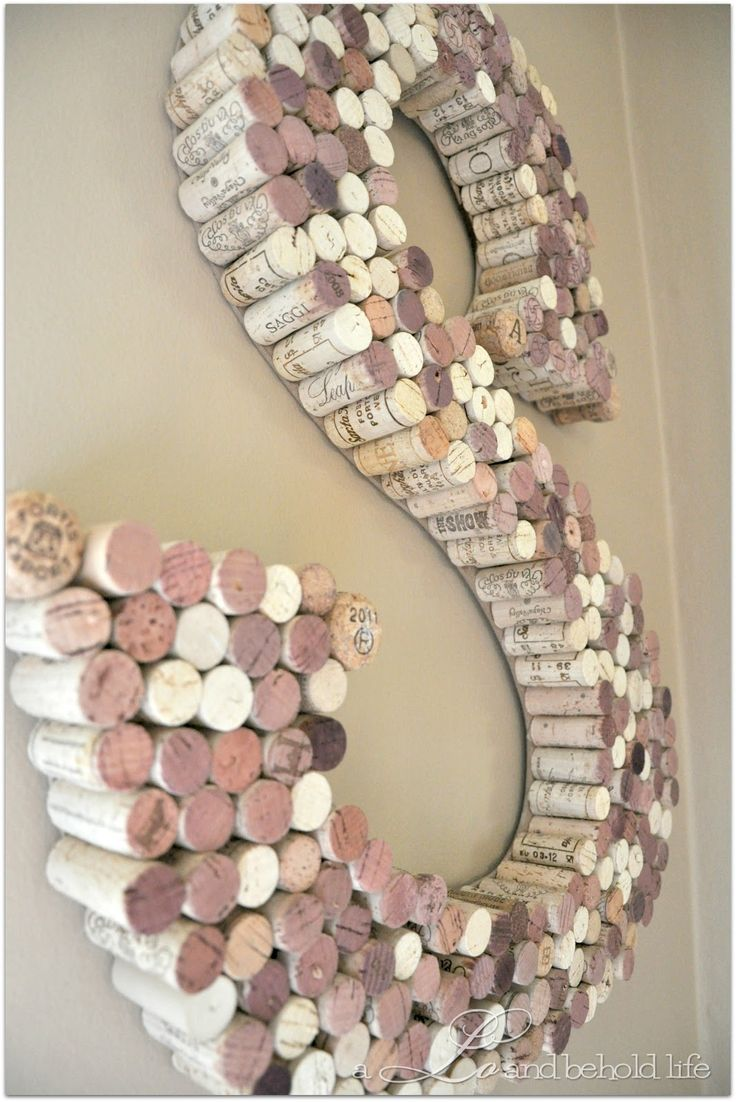 DIY Wine Cork last initial