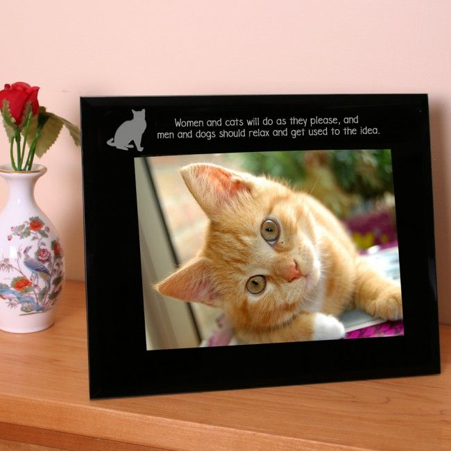 Engraved Photo Frame For Cat Lovers - GiftsOnline4U
