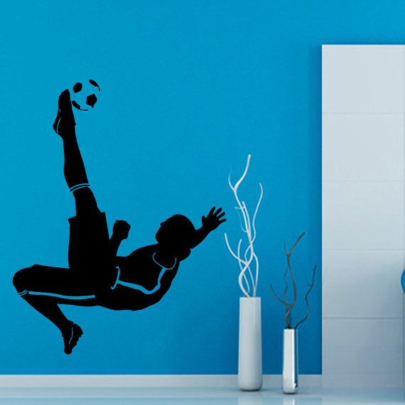 Soccer Wall Decals Man Football Player Sport by WallDecalswithLove