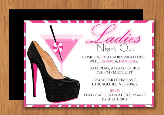8 best Girls Night Out Invitations & Party Ideas images on Pinterest Girls night Ladies night