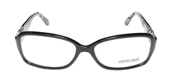 6c568548e2f Roberto Cavalli Women s RC0714 Acetate Frames BLACK 54 Review ...