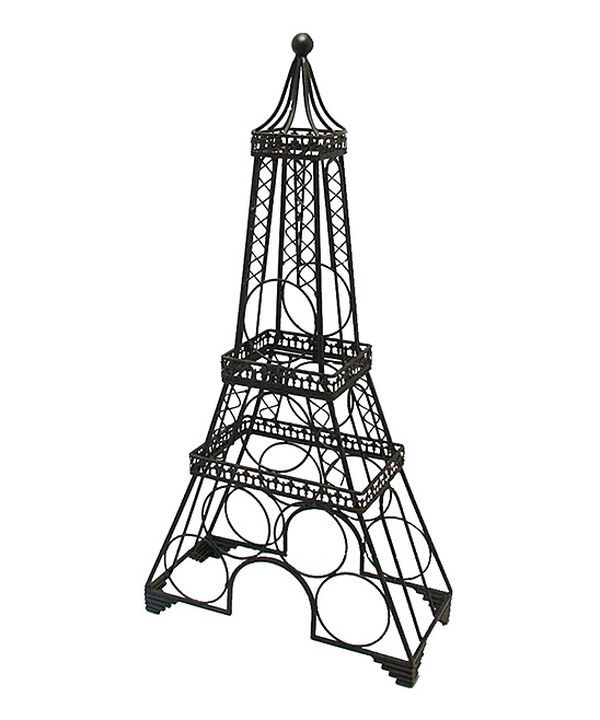 Look at this Black Eiffel Tower Wine Rack on #zulily today!