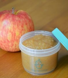 """Applesauce, Stage 1 Meals"" Applesauce is a perfect 1st food for your baby, it tastes great, is easy to digest & is so easy to make. It's one of the best foods to keep in your fridge or freezer. Homemade applesauce tastes so much better and fresher than store bought - your baby and kids will love it! View the recipe here http://sagespoonfuls.com/recipes/33 #sagespoonfuls #makeyourown #babyfoodrecipes #babyfood #organicbabyfoodrecipes #homemadebabyfood #applesauce"