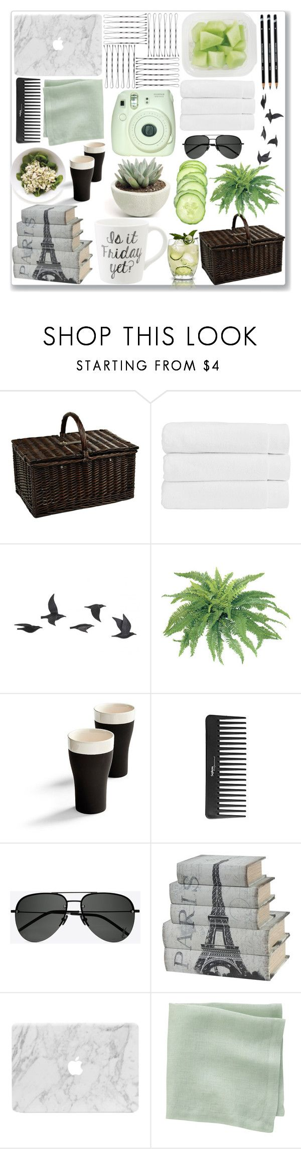 """Picnic"" by amber-mistry ❤ liked on Polyvore featuring Picnic at Ascot, Christy, Jayson Home, Frontgate, Sephora Collection, Yves Saint Laurent, CB2 and picnic"