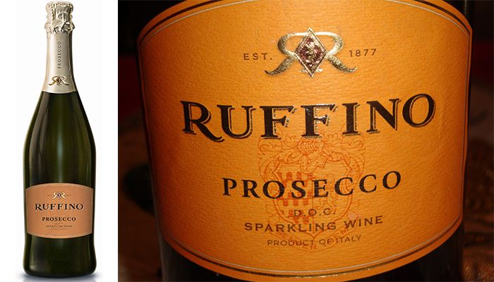 Ruffino Prosecco Veneto, Italy - Top 10 Affordable Sparkling Wines for the Holidays