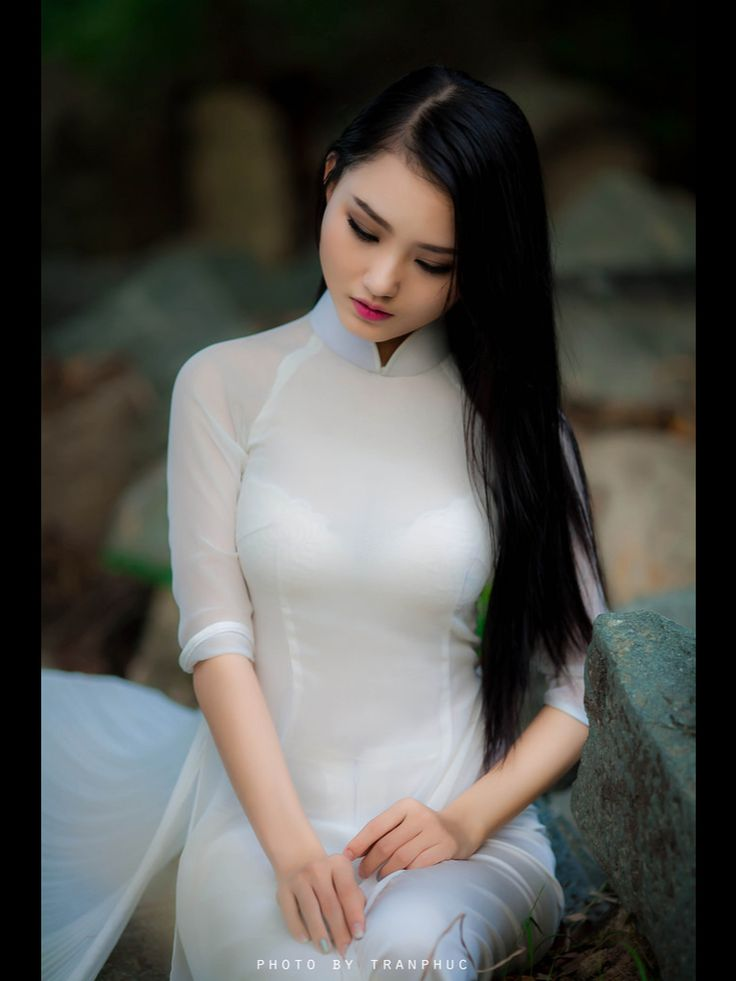 Ao Dai Trang  Ao Dai Trang  Beautiful, Asian Girl, Asian Beauty-2517