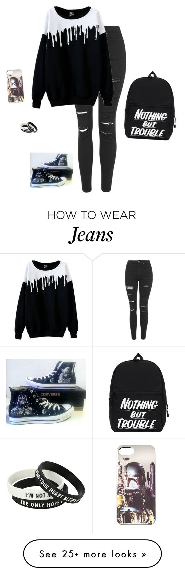 """""""I'M BORED HALP"""" by hanakdudley on Polyvore featuring Topshop and Converse"""