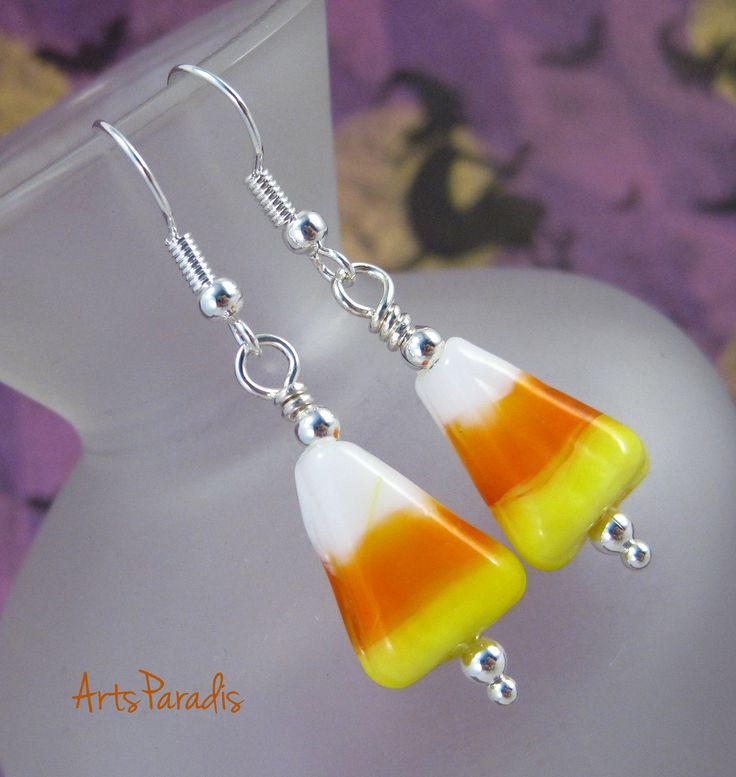 Everyday can be #Halloween with #glass #candycorn #earrings. Check out the link in my bio to see them in my store.  #ArtsParadis #OhioMade #handmade #fashion #jewelry #AmazonPrime #Amazon #Etsy #artisanjewelry #handcraftedjewelry #madebyhand #supporthandmade #nofilter #lotd #jotd #Inthe216 #shoplocal #supportsmallbusiness #oktoberfest #nightmarketCLE #oddmallohio #makersgonnamake #IntheCLE #thisisCLE #urbanwear