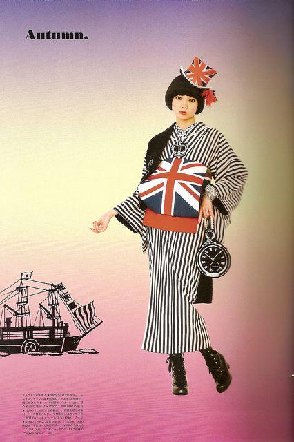 Kimono-hime issue 10. Fashion shoot page 9. by Satomi Grim, via Flickr