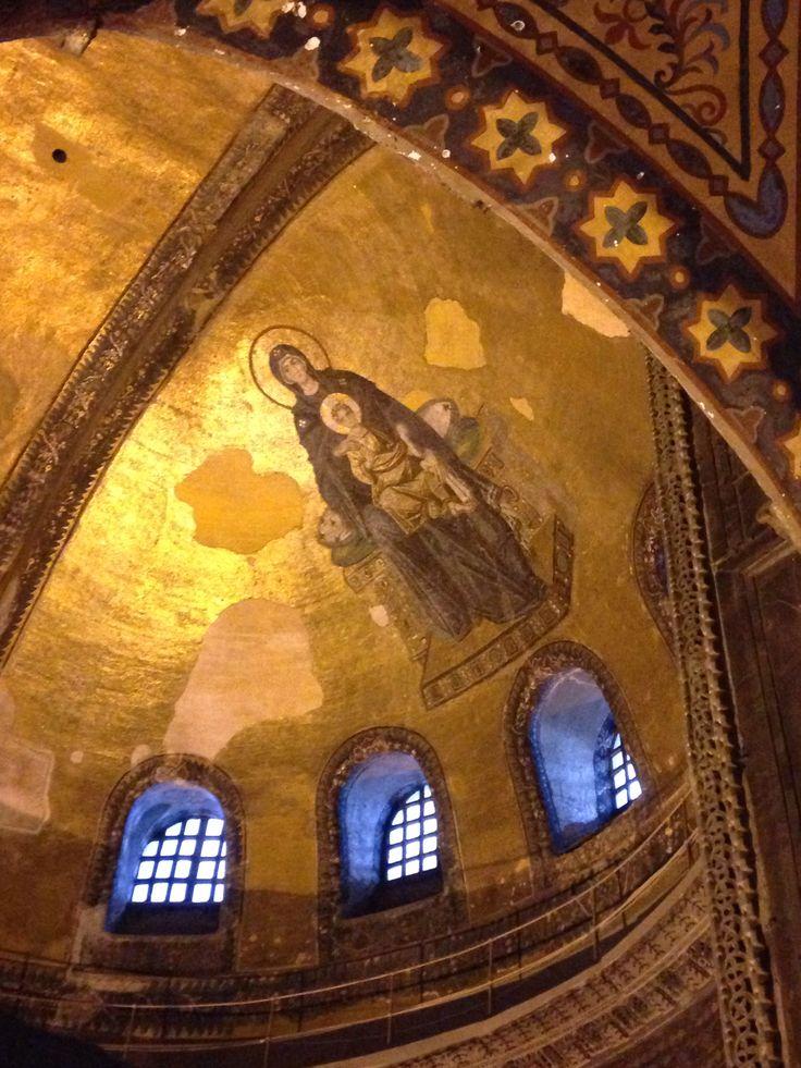 mosaic dome, Hagia Sophia, Istanbul