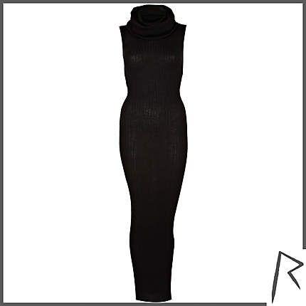 @river_island #RihannaforRiverIsland Black Rihanna rib roll neck midi dress. #RIHpintowin click here for more details >  http://www.pinterest.com/pin/115334440431063974/