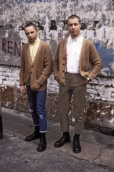 50 Years of British Style: Skinheads in Shoreditch, London, 1979. Photograph: Derek Ridgers