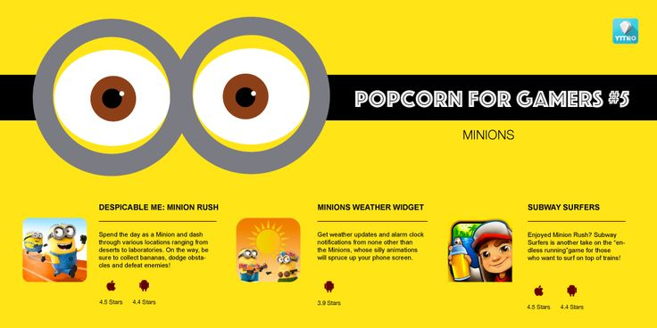 Celebrate the return of the #Minions with these fun games for all ages. #mobilegames #indiedev #indiegames #gamers