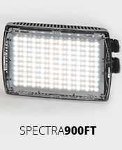 Spectra LED lights are available in different sizes, with varying levels of specification, to meet many different requirements. Discover the product that best fits to your needs. #led #spectra #manfrotto #lighting