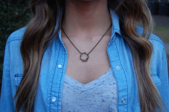 Crown Of Thorns necklace Jesus Necklace Faith necklace