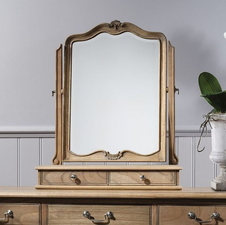 Gallery Direct Chic Weathered 2 Drawer Mirror
