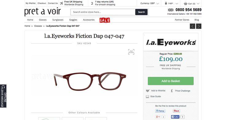 l.a Eyeworks Fiction Dap 047-047 Oxblood Glasses   Pretavoir 44mm