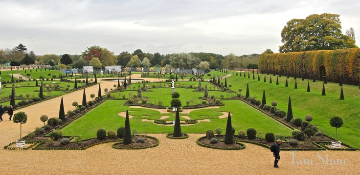 The Baroque style Privy Garden at Hampton Court Palace | London, England... via Tam Stone...