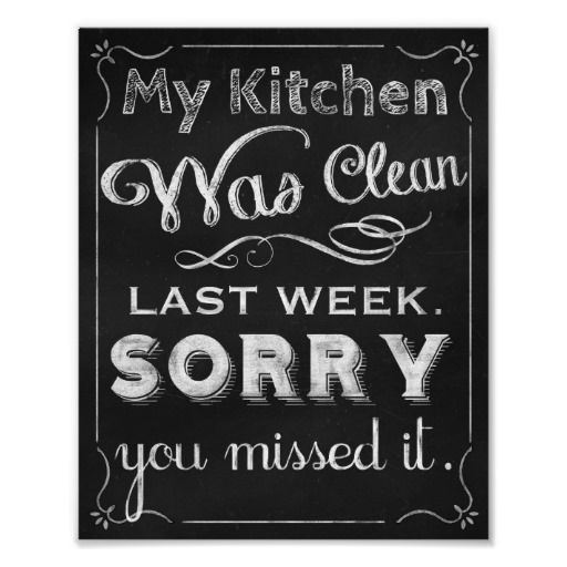 Chalkboard art print for the kitchen.