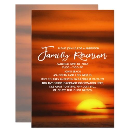 Best Family Reunion Save The Date Invitation Reminders Images