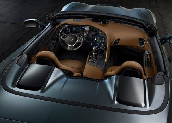 2014 Chevrolet Corvette C7 Stingray Convertible black coupe