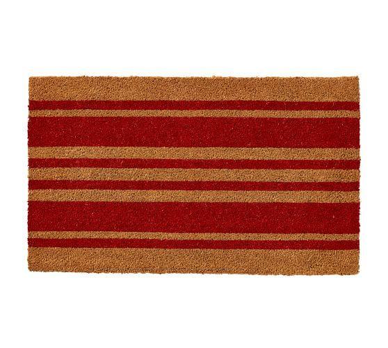 Stripe Doormat Personalized Door Mats Pottery Barn