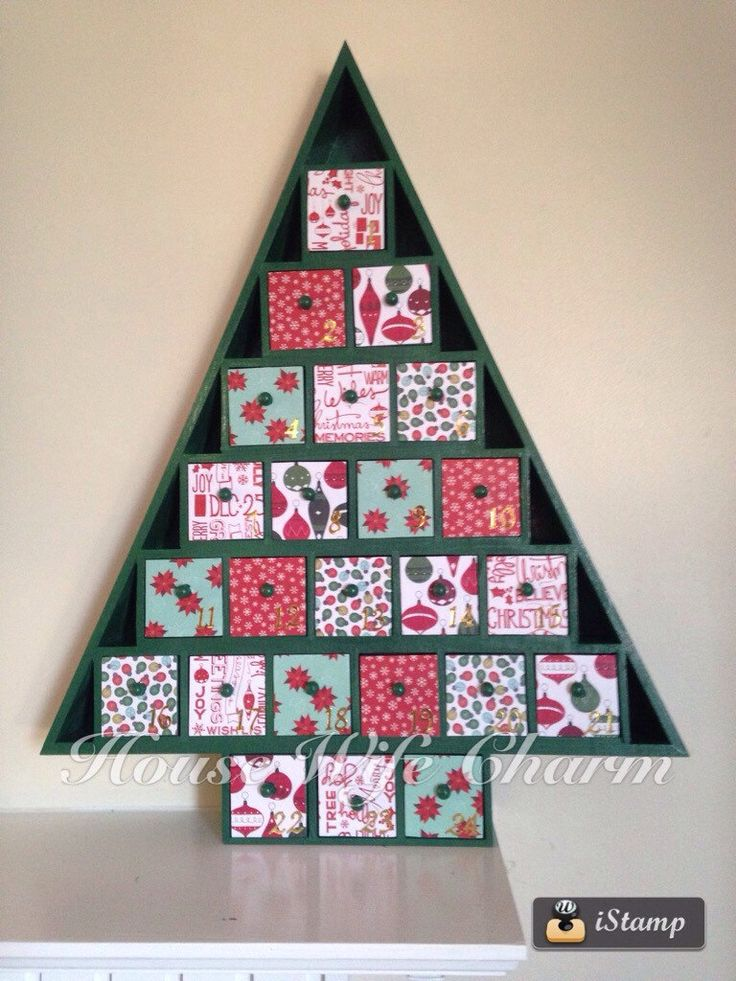 A personal favorite from my Etsy shop https://www.etsy.com/listing/471717676/christmas-advent-calendar-wooden-tree