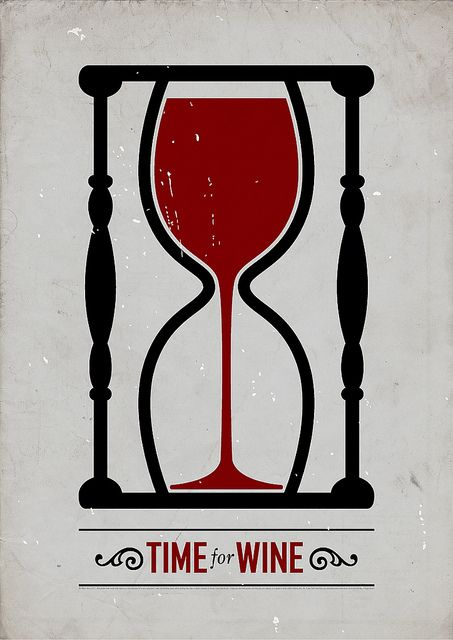 Minimalisme graphique - Time for wine