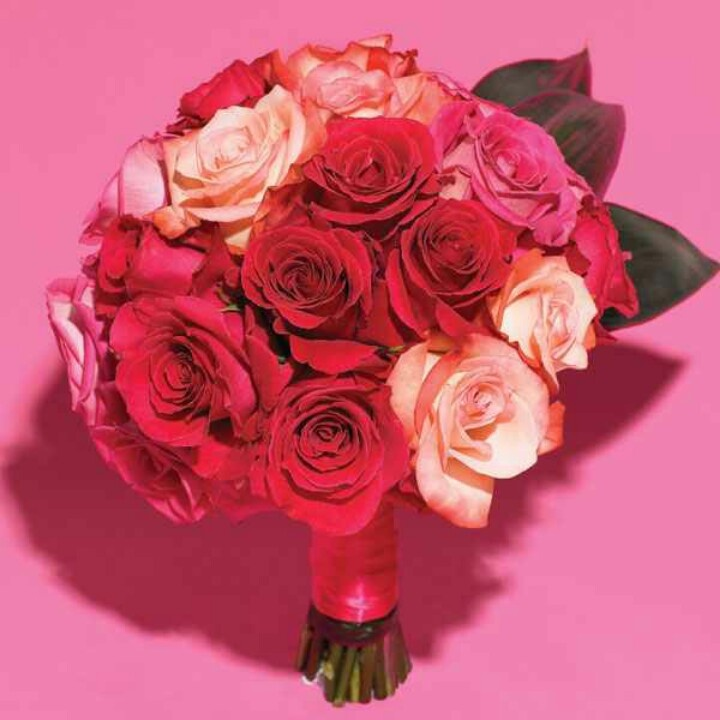 Multi-colored rose bouquet | My dream wedding | Pinterest