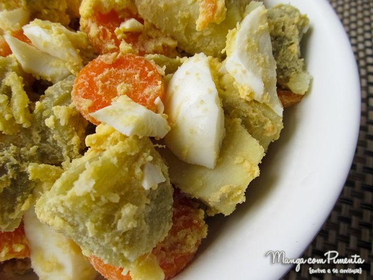 Salada Russa de Batata Doce, clique na imagem para ver a Receita no Manga com Pimenta.