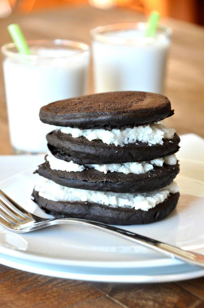 Oreo Pancakes - healthy no; yummy yes!!