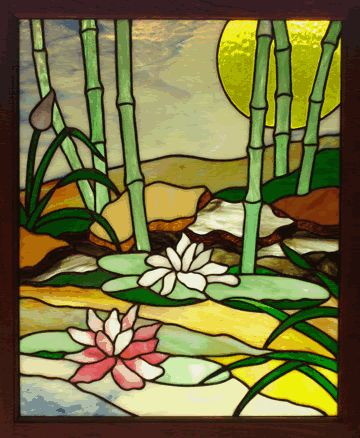 """Bamboo Garden"" stained glass"