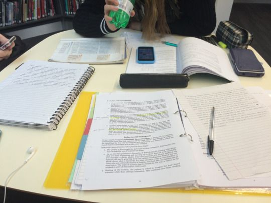Revision with friends at the library is the best way to revise