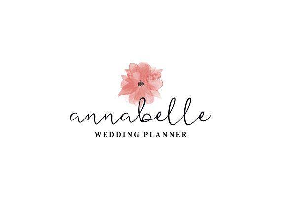 Watercolor Logo Logo Design Wedding Logo Floral Logo Makeup