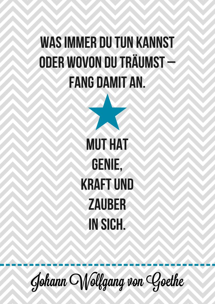 Goethe Mut Anfang