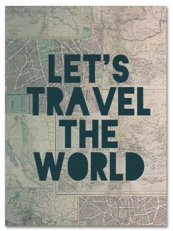 If this wall art doesn't just say it all, right? I want to travel the world, and this hanging up will make sure I'm always working toward that.  #travel #wallart #ad