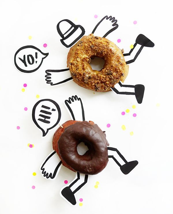 donut printables oh happy day - 600×740