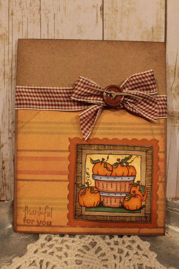 Thankful for you handmade fall card