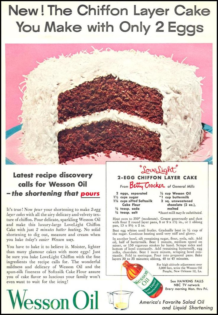 Wesson Oil Chiffon Cake Recipe