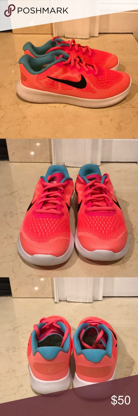 NIB Nike kids free RN 2017 (ps) sz 2y New in box Nike kids free RN 2017 (ps) size 2Y. Synthetic and mesh. Rubber sole. Breathable single layer mesh. Padded tongue and collar. Nike Shoes Sneakers