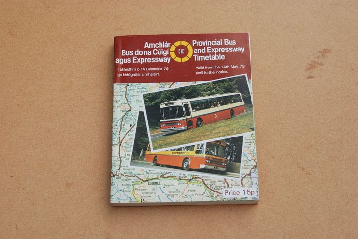 CIE Provincial Bus & Expressway Timetable 14th May 1979