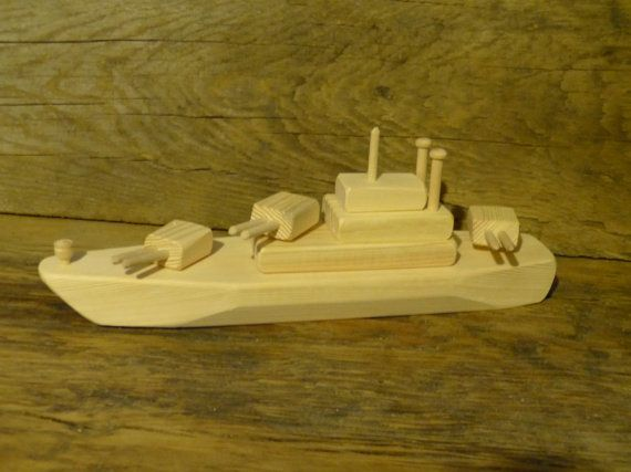 Wood Toy Battleship Ww2 Wooden Toy Ship By Outonalimbadk