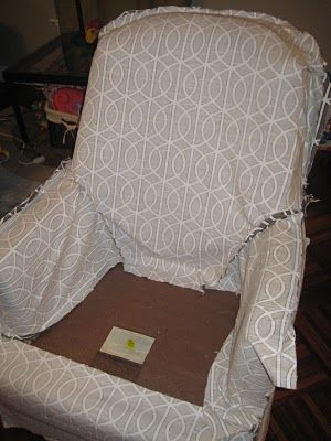 Great post on how to create a slipcover for an old chair.