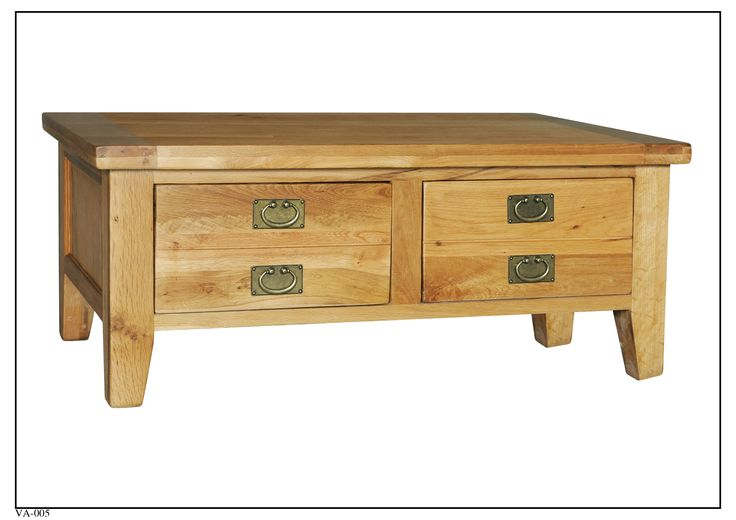 VA-005 Coffee Table w/ Two Drawers (1200mm x 700mm x 500mm High)
