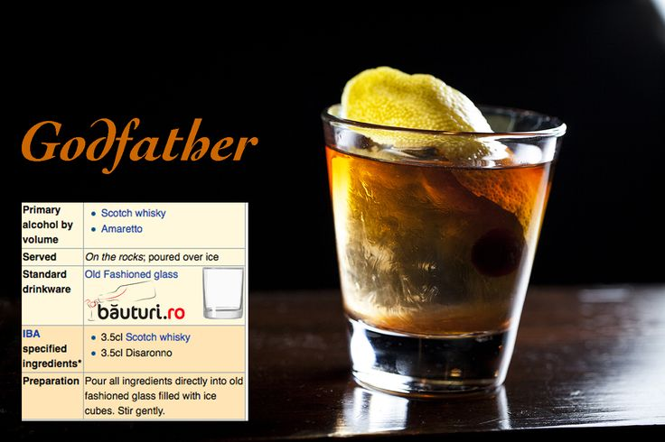 Every man admired Don Corleone's masculinity and mistery. You can now start to have this attitude: drink Godfather, best man cocktail ever made.  Secret ingredient: https://www.bauturi.ro/whisky-famous-grouse/pret?utm_content=buffer997be&utm_medium=social&utm_source=pinterest.com&utm_campaign=buffer