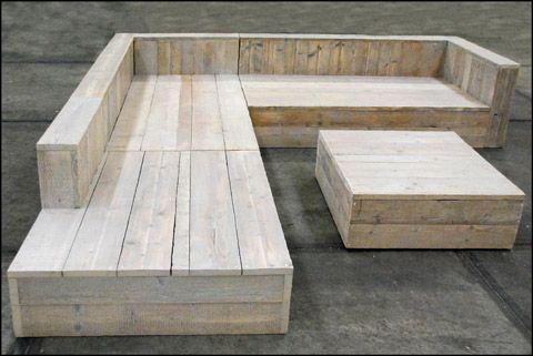Móveis para área externa com pallets