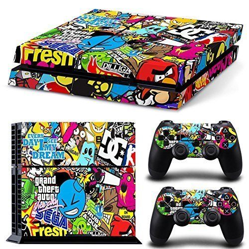 Ps4 Console And Dualshock 4 Controller Skin Set Collage